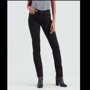 Levis 312 Shaping Slim Jeans Black Skinny High